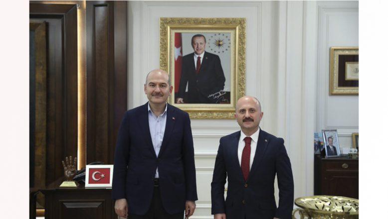 İçişleri Bakan Soylu'ya Yeni Ağrı Valisi Osman Varol'dan Ziyaret