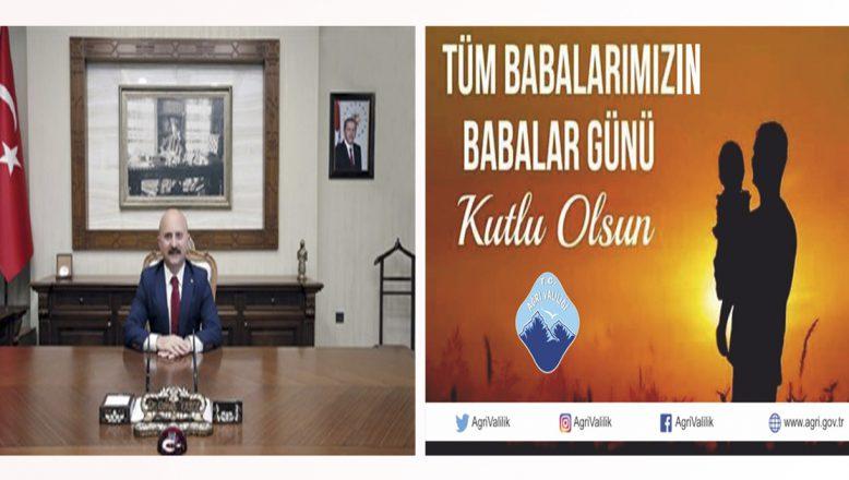 Ağrı Valisi Dr. Osman Varol'un Babalar Günü Mesajı