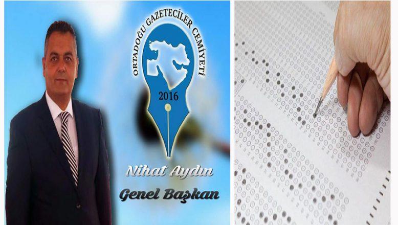 OGC Genel Başkanı Aydın'dan YKS'ye girecek öğrencilere başarı dilekleri