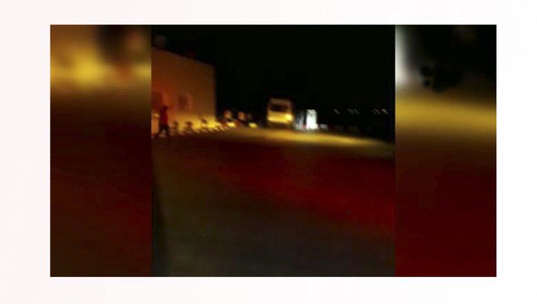 Ağrı'da LPG deposuna çarpan minibüs paniğe neden oldu