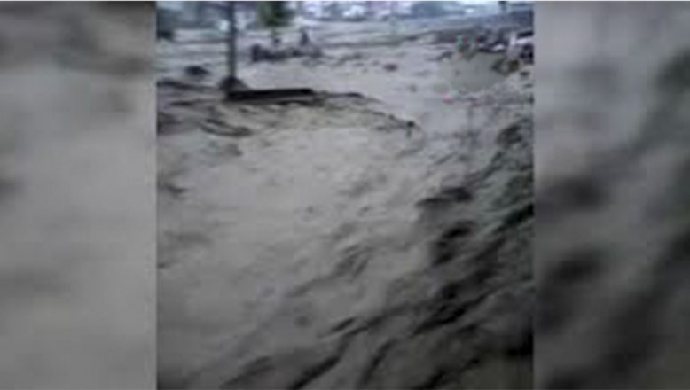 Ağrı'da sağanak sonrası meydana gelen sel nedeniyle 4 ev ve çok sayıda ahır zarar gördü