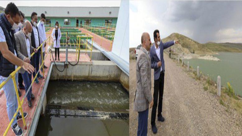 Ağrı Valisi Varol'dan,Yazıcı Barajında incelemelerde bulundu
