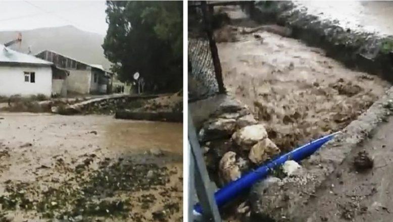 Ağrı'da şiddetli sağanak sele dönüştü, büyük maddi hasar oluştu
