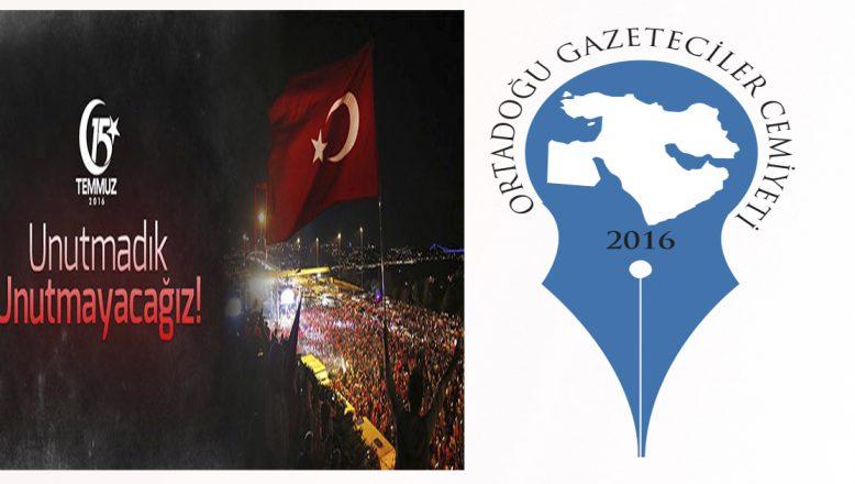 """OGC'DEN """"15 Temmuz Demokrasi ve Birlik Günü"""" Mesajı"""