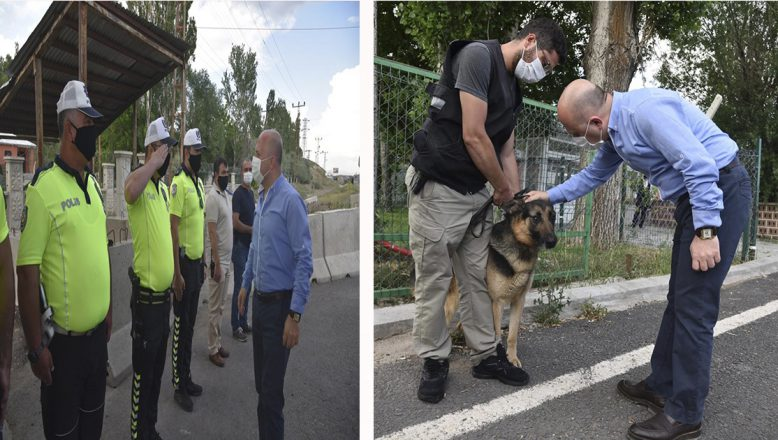 Vali Varol, Bölge Trafik Denetleme Şube Müdürlüğünü Ziyaret Etti