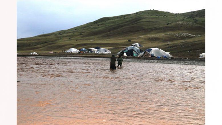 Ağrı'da da sel sonrası başlatılan hasar tespit çalışmaları devam ediyor