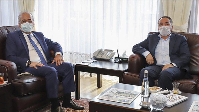 AİÇÜ Rektörü Karabulut'tan, AÜ Rektörü Çomaklı'ya Ziyaret