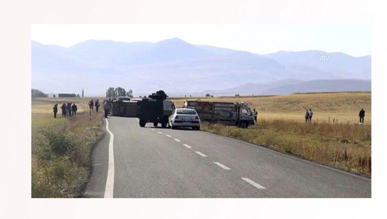 Ağrı'da trafik kazası 1'i ağır 6 kişi yaralandı
