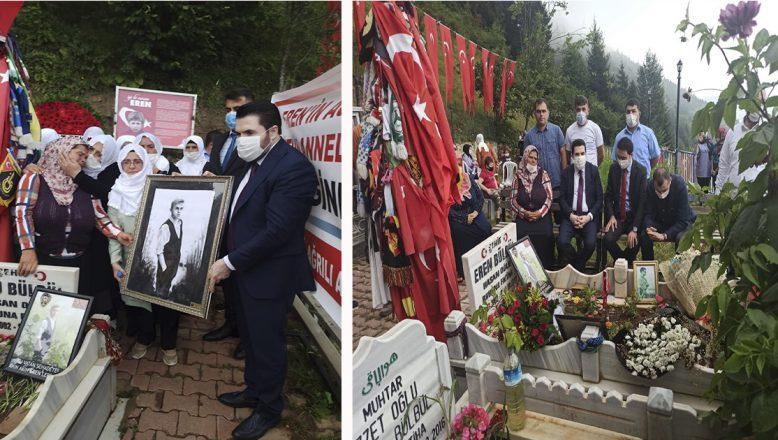 Savcı Sayan ve Beyaz Tülbentli Ağrı'lı Anneler,Şehit Eren Bülbül'ü Anma Programına Katıldılar