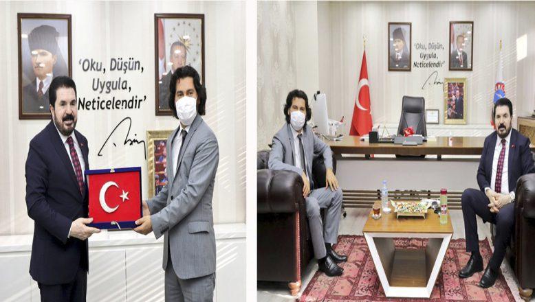 SERKA Genel Sekreteri İ.Taşdemir'den, Başkan S. Sayan'a ziyaret
