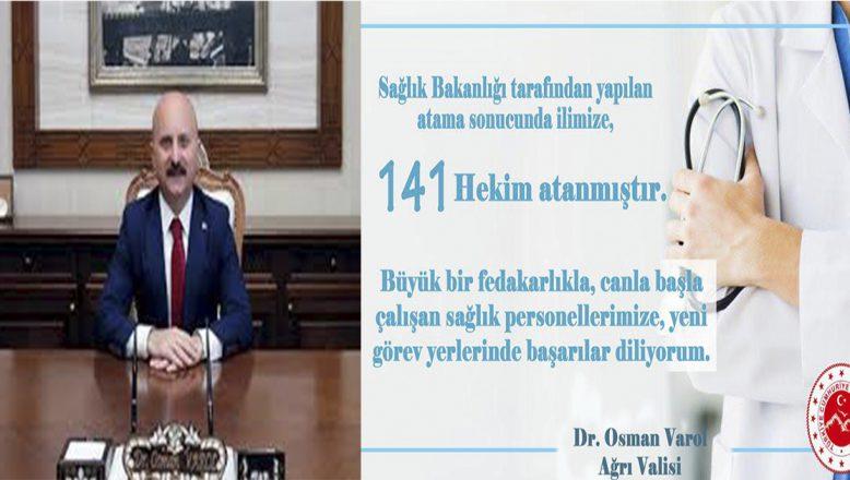 Sağlık Bakanlığınca Ağrı'ya 141 Yeni Hekim Atandı