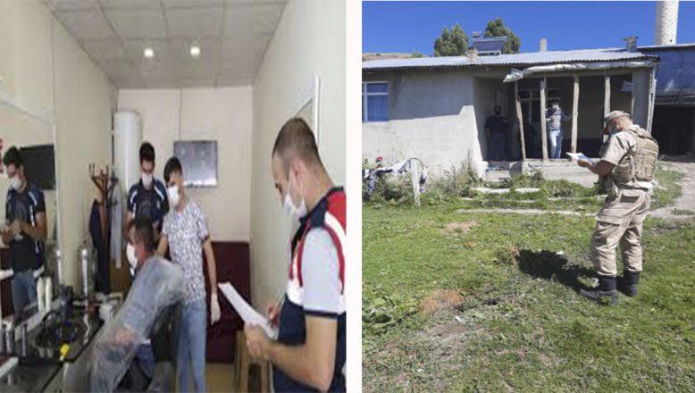 Ağrı'da karantina kuralına uymayan 15 kişiye 47 bin 250 lira ceza