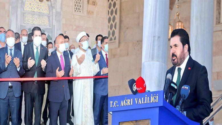 Başkan Sayan Patnos'ta Recep Tayyip Erdoğan Camii'nin açılışına katıldı