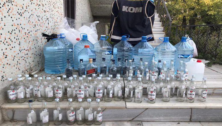 Ağrı'da sahte alkol operasyonunda bir kişi gözaltına alındı