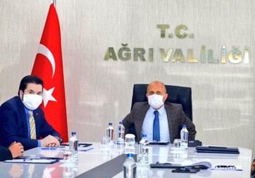 Başkan Savcı Sayan Hayvan Pazarı Bilgilendirme ve Değerlendirme Toplantısına Katıldı