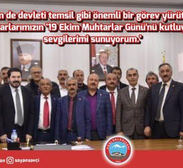 Başkan Sayan'ın Muhtarlar Günü Kutlama Mesajı