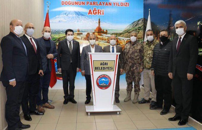 Emniyet Genel Müdürü Mehmet Aktaş ve Vali Dr. Osman Varol'dan Başkan Sayan'a Ziyaret