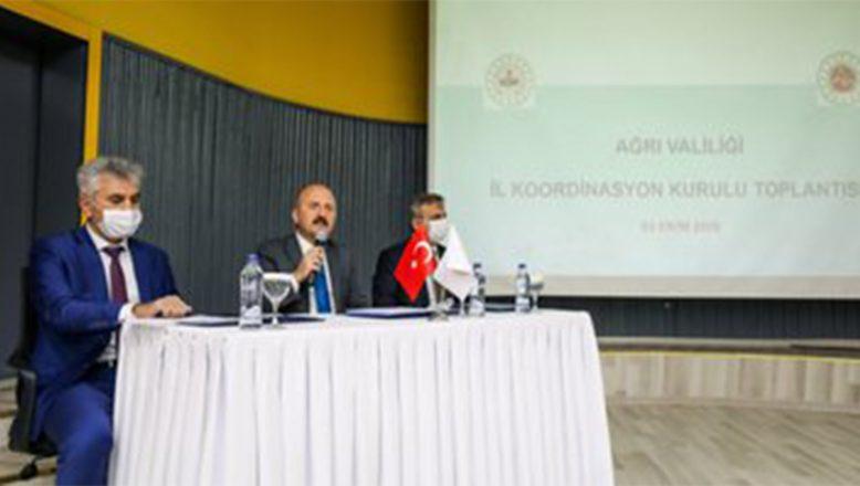 İl Koordinasyon Kurulu Toplantısı, Vali Varol'un Başkanlığında Gerçekleştirildi
