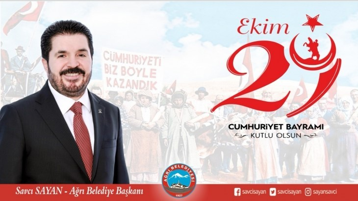 Başkan Sayan'ın 29 Ekim Cumhuriyet Bayramı Mesajı