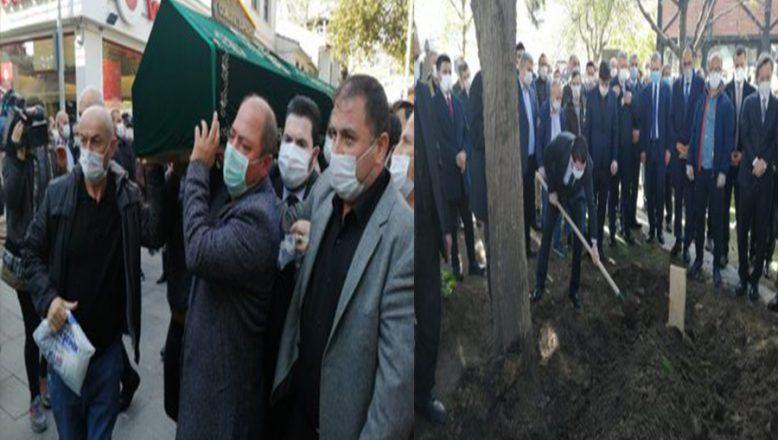 Savcı Sayan, Dostu  Gazeteci Ahmet Kekeç'i Son Yolculuğuna Uğurladı