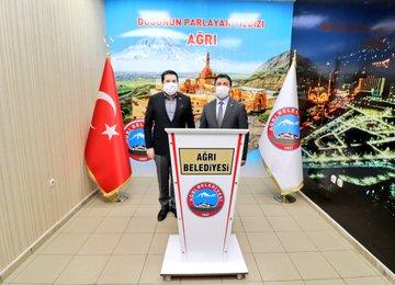 Merkez İlçe Başkanı Mehmet Nuri Yıldız'dan Başkan Savcı Sayan'a Ziyaret