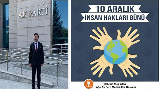 """Mehmet Nuri Yıldız'ın """"10 Aralık İnsan Hakları Günü"""" Mesajı"""