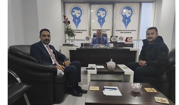 Başkan Yardımcısı Ahmet Tunç, OGC Genel Başkanı Aydın'ı Ziyaret Etti