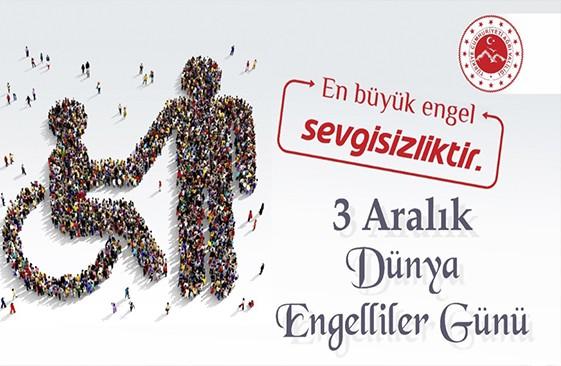 Vali Dr. Osman Varol'un  3 Aralık Dünya Engelliler Günü Mesajı
