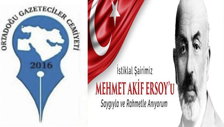 OGC Başkanı Aydın'ın Mehmet Akif Ersoy Mesajı