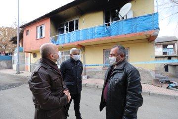 Vali Varol, Yangın Çıkan Evde İncelemelerde Bulundu