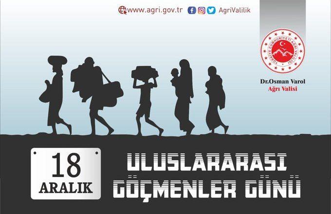 Vali Varol'un, 18 Aralık Uluslararası Göçmenler Günü Mesajı
