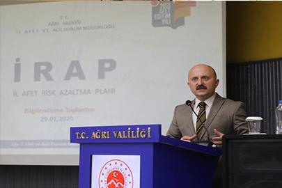 Ağrı'da İl Afet Risk Azaltma Planı (İRAP) Bilgilendirme Toplantısı Yapıldı