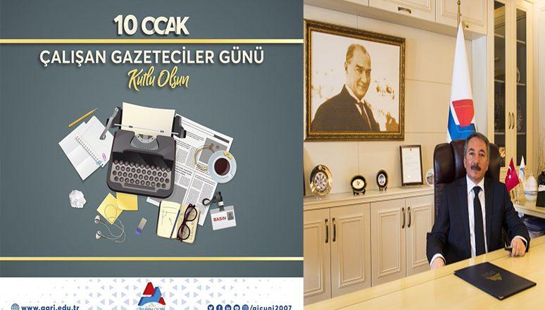 """AİÇÜ Rektörü Karabulut'un """"10 Ocak Çalışan Gazeteciler Günü""""Mesajı"""