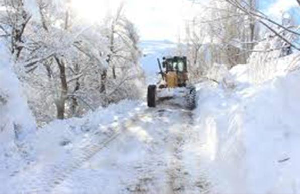 Ağrı'da kar yağışı nedeniyle 55 köy yolu kapandı