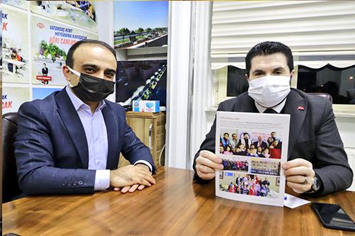 Başkan Sayan'a, Gülsün Çocuklar Derneğinden Ziyaret