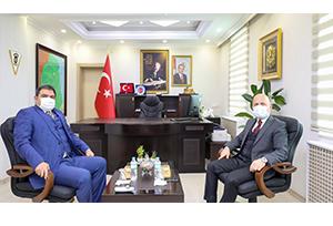 Vali Varol, Diyadin Belediye Başkan V. Alper Balcı'yı Ziyaret Etti