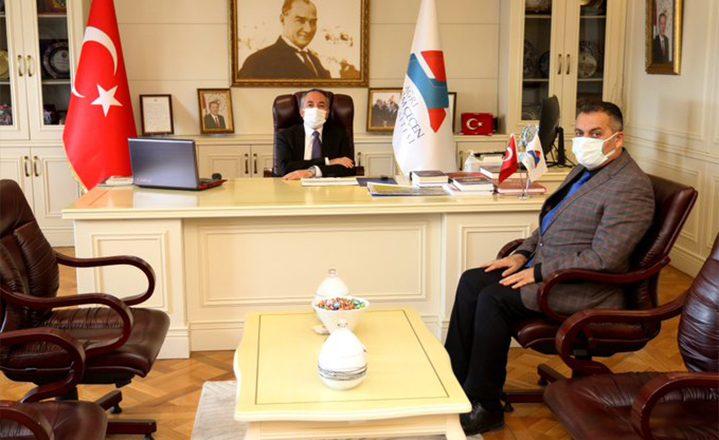OGC Genel Başkanı Aydın'dan, Rektör Karabulut'a Tebrik Ziyareti