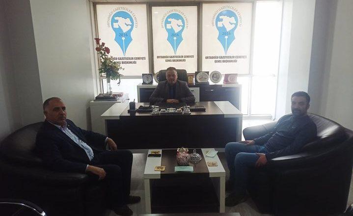 ATSO  Başkanı Saim Alpaslan Orta Doğu Gazeteciler Cemiyetini  Ziyaret Etti
