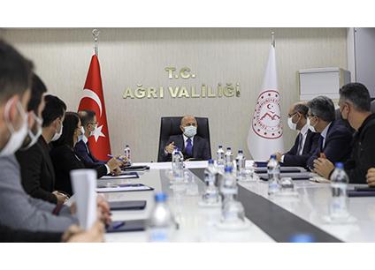 Vali Varol Gıdakent Projesi Çalışma Grubu Toplantısına Katıldı