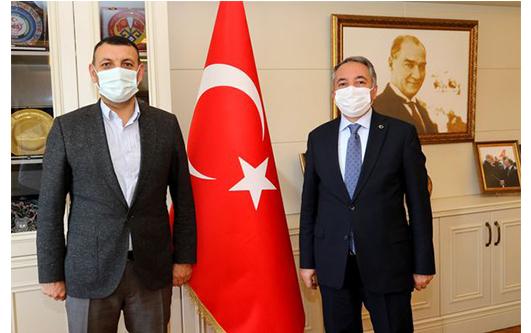 Ağrı Baro Başkanı Aydın'dan Rektör Karabulut'a Ziyaret