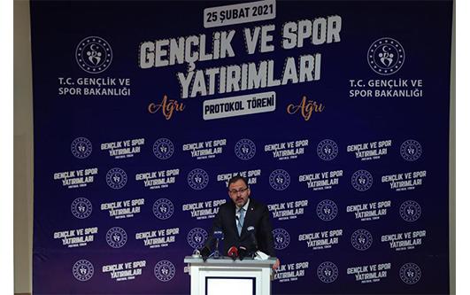Bakan Kasapoğlu,Ağrı'da Gençlik ve Spor Yatırımları Protokol Törenine Katıldı