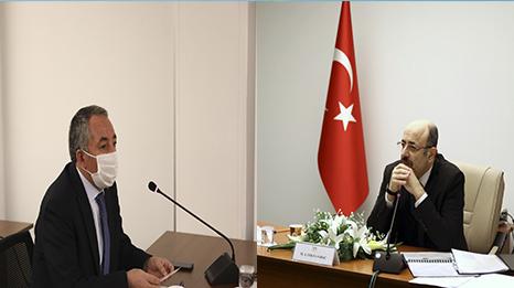 AİÇÜ RektörüKARABULUT, YÖK Başkanı SARAÇ'ın Başkanlığında Yapılan Toplantıya Katıldı