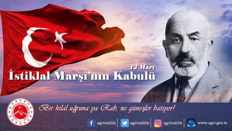 """Vali Varol, """"12 Mart İstiklal Marşı'mızın Kabulü"""" dolayısıyla bir mesaj yayımladı"""