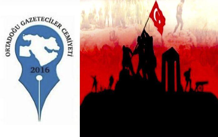 OGC Genel Başkanı Aydın'ın 18 Mart Çanakkale Zaferi Mesajı