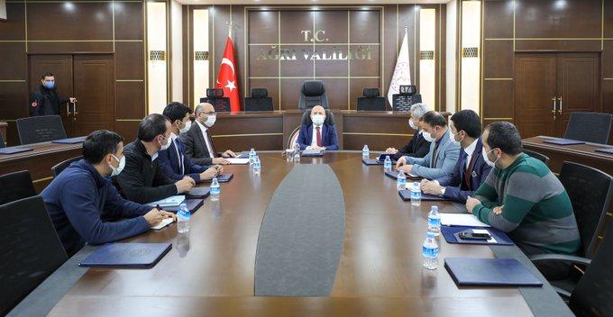 Vali Varol Başkanlığında Yapılan Toplantıda  Jeotermal Kaynak İşletmeleri Değerlendirildi