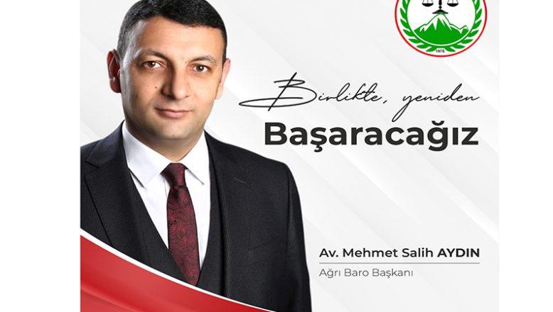 Baro Başkanı Av. Salih Aydın'ın Teşekkür Mesajı