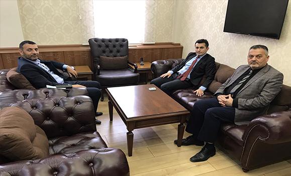 Eleşkirt Kaymakamı Duruk'a, Baro Başkanı Av. M.S. Aydın, OGC Başkanı Aydın'dan Ziyaret