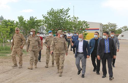 Vali Varol Doğubayazıt Jandarma Asayiş Komando Bölük Komutanlığını Ziyaret Etti