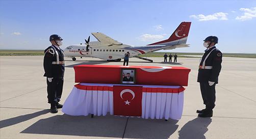 Ağrı Şehidini Düzenlenen Törenle Ankara'ya Uğurladı