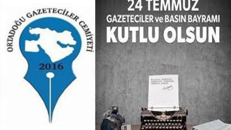 """OGC'den """"24 Temmuz Gazeteciler ve Basın Bayramı"""" Kutlama Mesajı"""